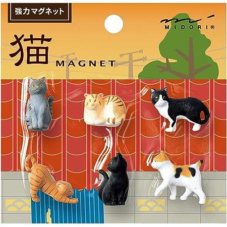ミドリ マグネット ミニ 猫 A 6個入 49870006