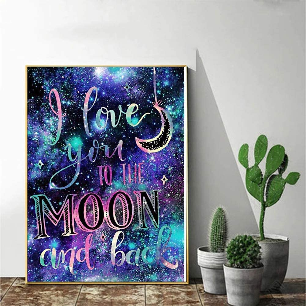 5D Diamond Painting Kit Full Drill Arts Craft Canvas Supply for Home Wall Decor Adults and Kids Rhinestone Embroidery Cross Stitch for Home Decor Moon Tree 11.8x11.8in by LOVIERA