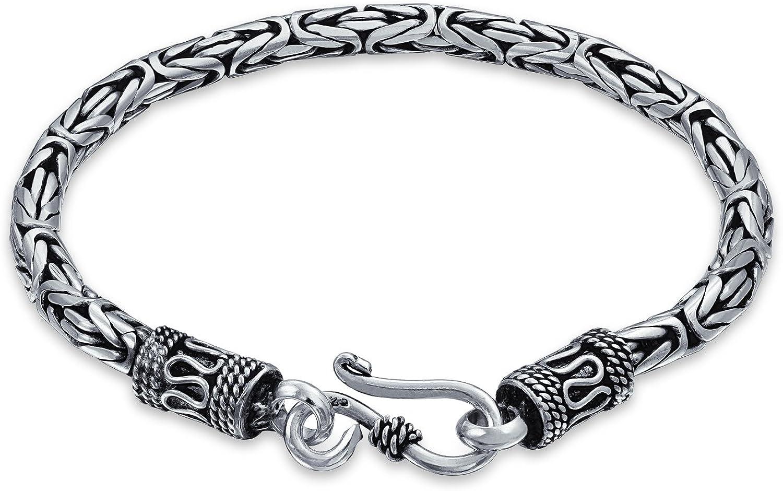 Bali Byzantine Chain Link Bracelet Eye sale Ste 925 Under blast sales And Hook Antiqued