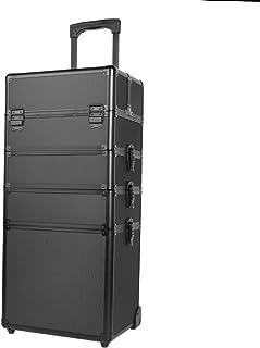Paneltech 4 in 1 grande trucco bellezza Rolling Case Organizer Cosmetici Parrucchiere Lockable Storage Box Borsa professio...