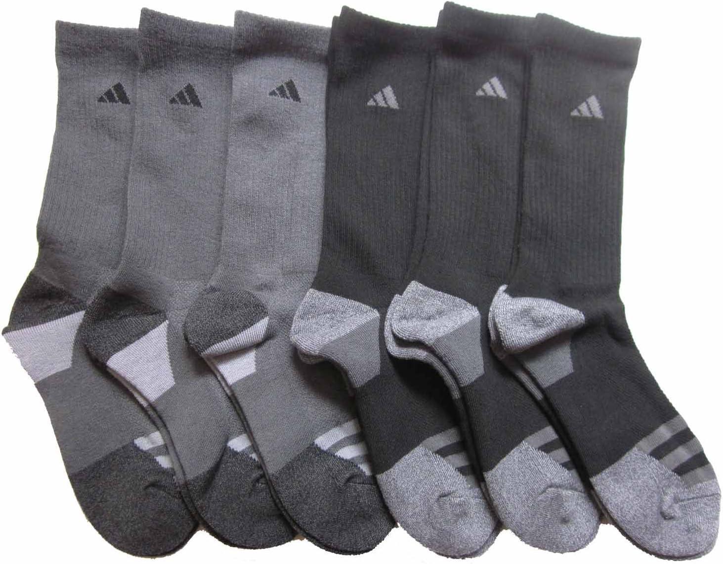 adidas Mens 6 Pack Athletic Crew Socks (Shoe: 6-13)
