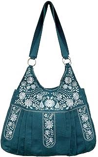 Damen Handtasche   Shopping bag   Schultertasche  Umhängetasche, aus 100% Leinen (Canvas) mit modernen und eleganten Motiv...