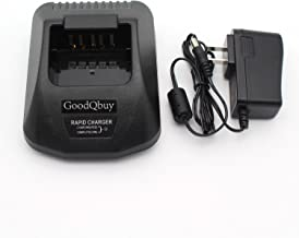 GoodQbuy KSC-25 Rapid Charger is Compatible with Kenwood KNB-24L KNB-25A KNB-26N KNB-35L KNB-40LC KNB-55L KNB-56N KNB-57L Battery Radio TK3160 TK3140 3170 TK3360 TK2160