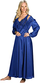 Shadowline womens Silhouette 54 Inch Long Sleeve Coat Bathrobe