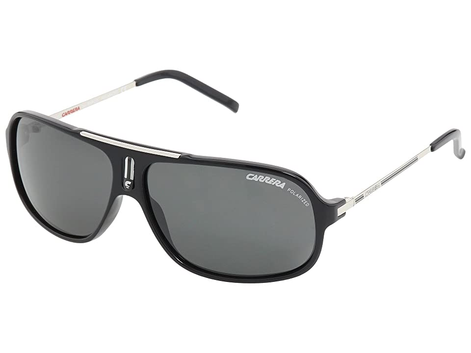Carrera Cool/S (Black/Palladium/Grey Polarized) Fashion Sunglasses
