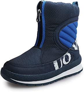 UOVO Boys Snow Boots Boys Boots Winter Boots for Kids Waterproof Winter Snow Boots for Boys Warm Slip Resistant Outdoor (Little Boys/Big Boys)