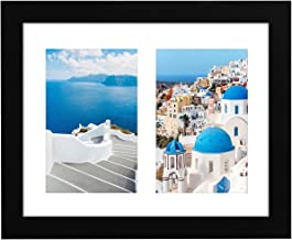 Americanflat 8x10 Black Collage Picture Frame with 2 4x6 Openings - Built-in Easel Stand