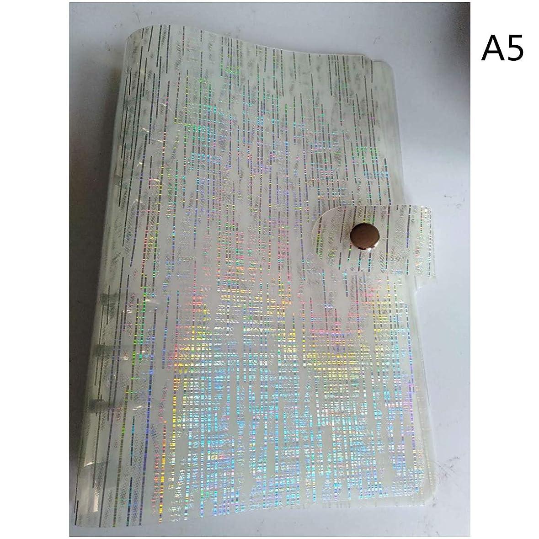 機転逆さまに理論Daeum A5 A6 A7 PVC Rainbowlaser透明ノートブック日記カバーキラキラルーズリーフ