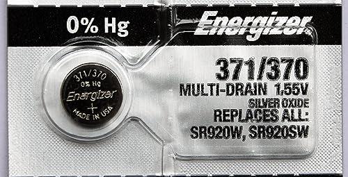 ENERGIZER Lot de 5 Blisters de 1 Pile Oxyde d'Argent pour montres 371/370