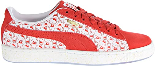 PUMA Womens Suede Classic x Hello Kitty Casual Sneakers,