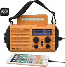 Solar Hand Crank Portable NOAA Weather Radio for Household Outdoor, 5-Way Powered NOAA/AM/FM/SW Emergency Radio with 2000mAh Battery Power Bank,USB Phone Charger,LED Flashlight,Reading Lamp,SOS Alarm