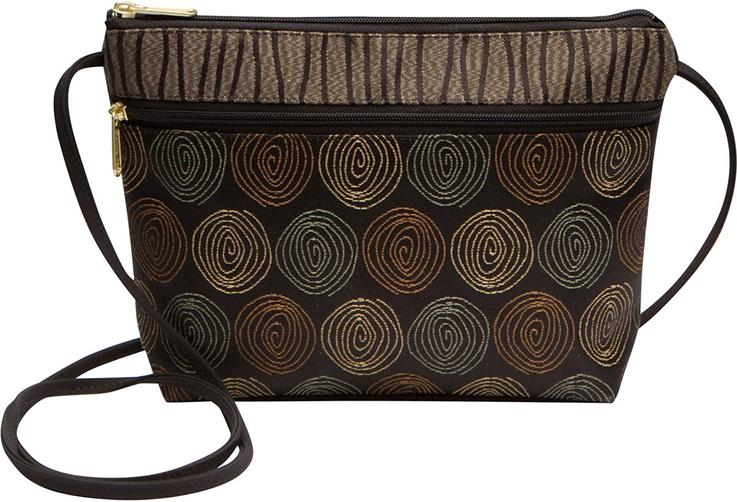 Danny K Women's Tapestry Zipper Purse Crossbody Handbag, Adjustable Cord, Handmade in USA