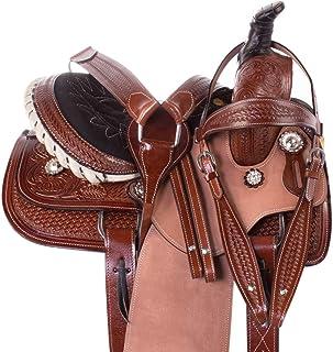 "Acerugs Little Cowboy Western Roping Leather Horse Pony Saddle Youth Kids TACK Set 10"" 12"" 13"" 14"""