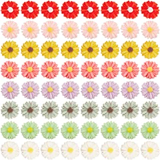 10x4mm Airssory 80 Pcs 8-Colors Daisy Flower Shape Resin Slime Charms Beads Buttons Flatback Cabochons for Hair Ornament Scrapbooking DIY Accessories