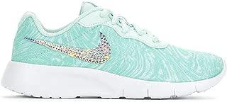 Crystal Bedazzled Blue Swirl Little Girls' Nike Tanjun Print 10.5-3 Running