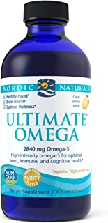 Nordic Naturals Ultimate Omega Liquid, Lemon Flavor - 2840 mg Omega-3-8 oz - High-Potency Omega-3 Fish Oil Supplement with...