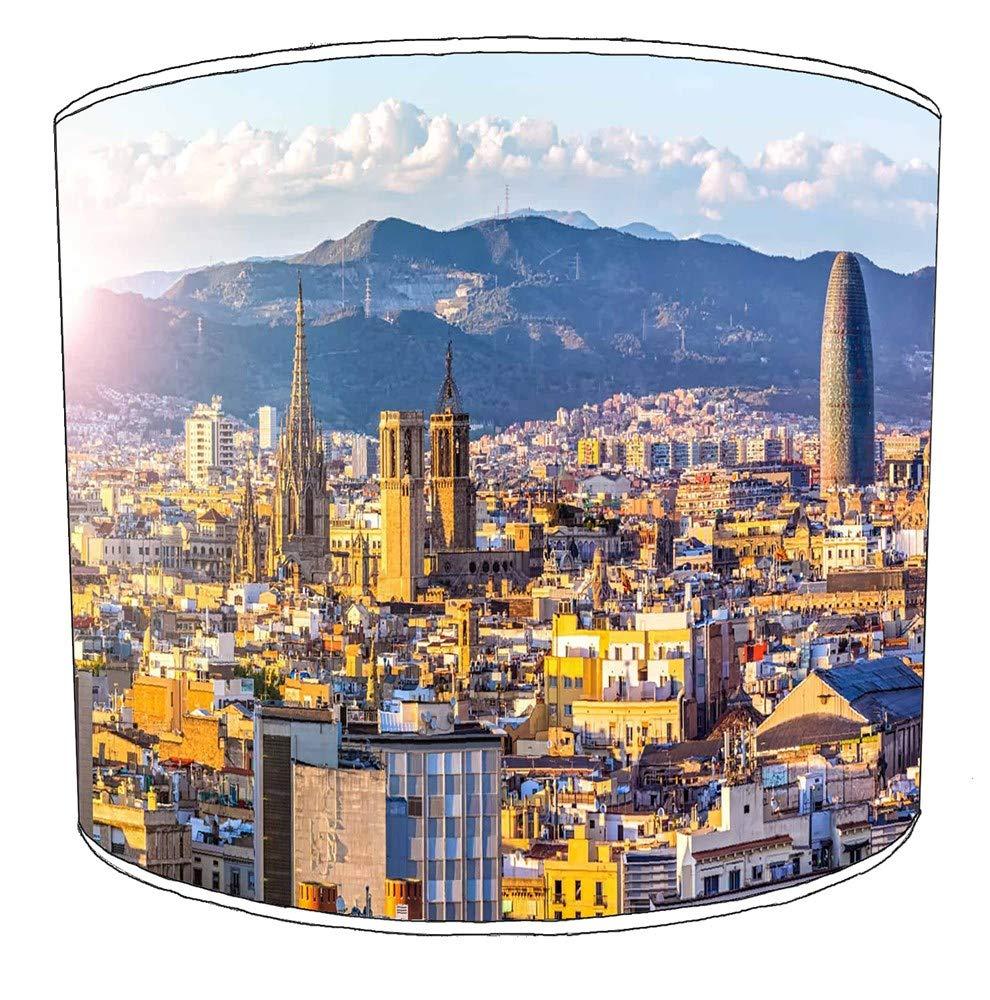 Premier Lighting Ltd 25cm Ciudad de Barcelona Pantallas de lámparas7 para una lámpara de Mesa: Amazon.es: Hogar