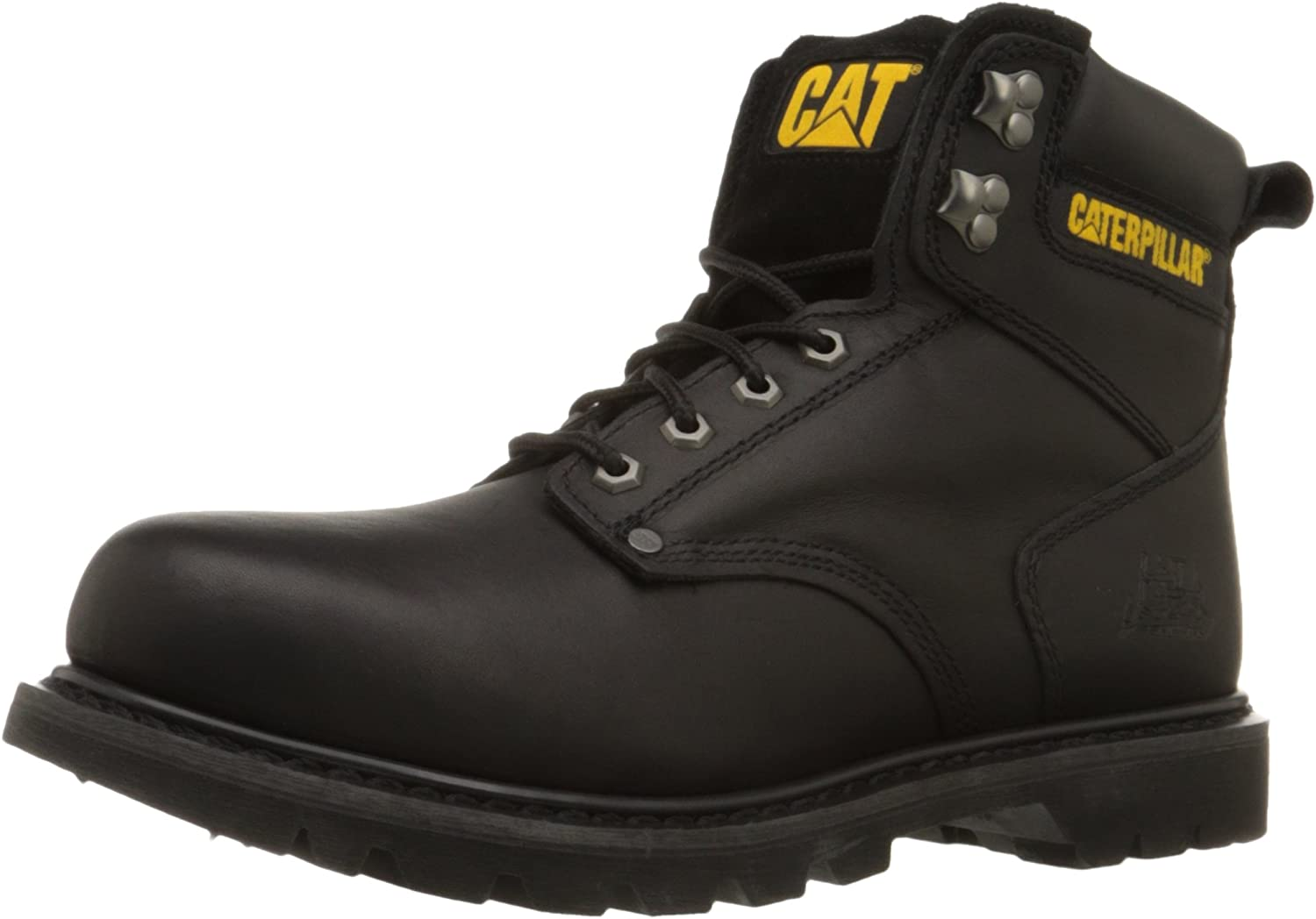 Caterpillar Men's 2nd Shift 6  Plain Soft Toe Boot,Black,13 W US