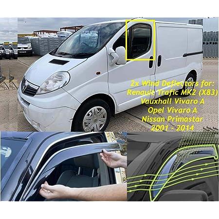 2 X Windabweiser Für Renault Trafic X83 Opel Vivaro A Nissan Primastar 2001 2002 2003 2004 2005 2006 2007 2008 2009 2010 2011 2012 2013 2014 Auto