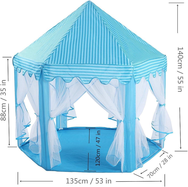 precio al por mayor Tienda de Jugara Jugara Jugara al aire libre Tienda de juegos infantiles de malla para Niños Tienda de malla hexagonal Juego de mosquiteros Casa de juguete para bebé para jardín interior y exterior ( Color   Azul )  precioso