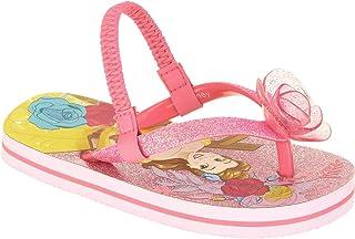 9027d80d19ece ACI Disney Princess Belle Toddler Little Girl Sandals Flip Flop Pink Glitter  Beach Shoes