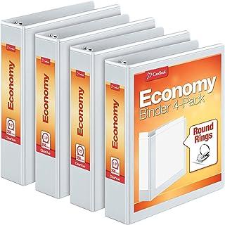 Cardinal Economy Round Ring Binders, 4 per Pack (79517), 1.5 Inch, White