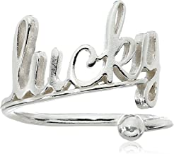 Alex and Ani Ring Wrap, Lucky Sterling Silver Bangle Bracelet