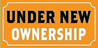 Pre-Printed - Under New Ownership Banner - Solid - Orange (8` x 4`)