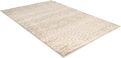 benuta Modern Rug for Living Room and Bedroom, Viscose, Cream, 77 x 150 x 0.02 cm