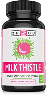 Milk Thistle Standardized Silymarin Extract for Maximum Liver Support - Detox, Cleanse & Maintain - Extract & Seed Complex - 60 Tablets