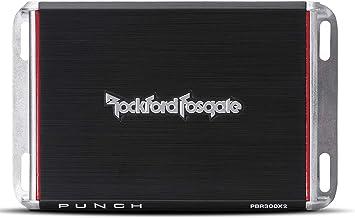 Rockford Fosgate PBR300X2 Punch 300 Watt 2 Channel Boosted Rail Amplifier