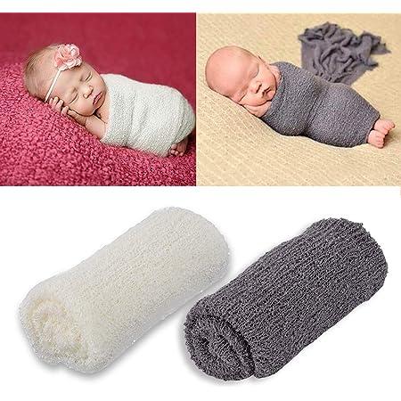 on brand Wuderland Neugeborene Stretch Knit Solide Wrap Baby-Fotografie Props Baby-Fotografie Props Decke Infant Foto Shooting Basket Stuffer Swaddle