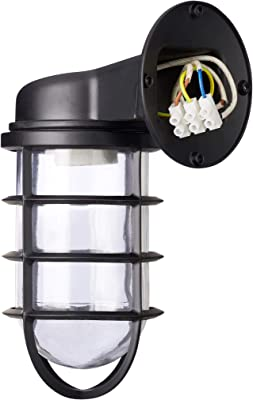Relaxdays Wall Lamp, Industrial-Style, Metal Light, Vintage-Look, Black