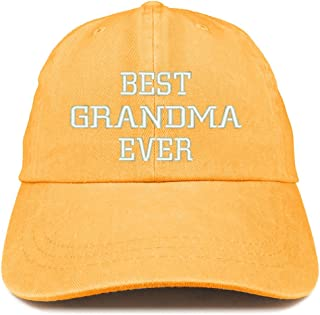 6c3ef42044c Trendy Apparel Shop Best Grandma Ever Embroidered Pigment Dyed Low Profile Cotton  Cap