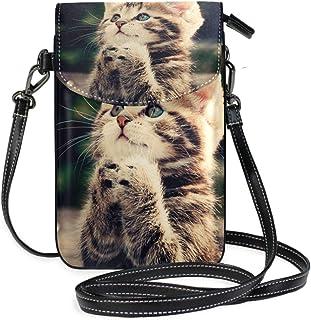 Cute Astronaut Cat Cell Phone Purse Crossbody Bag Pouch Shoulder Bags Wallet for women Girls Travel Wedding