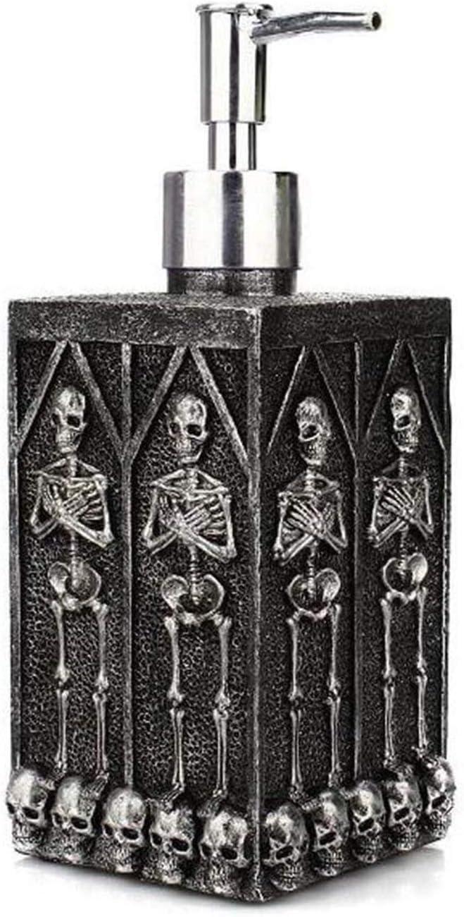 LJJSMG Bathroom Lotion Dispensers Soap Dispenser Skull Design Re
