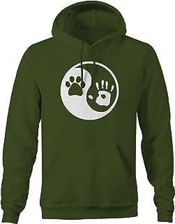 Paw Hand Print Yin Yang Dog Animal Rescue Adopted Pet Lover Sweatshirt - Xlarge