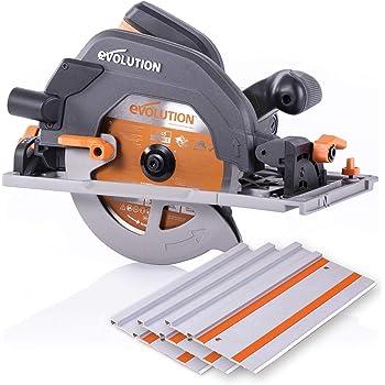 "Evolution Power Tools R185CCSX 7-1/4"" Multi-Material Circular Track Saw Kit w/ 40"" Track"