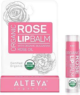 Alteya Organic Bálsamo Labial de Rosa 5 gr – USDA Certificado Orgánico Puro Bio Producto Natural para Cuidado Labial Basad...