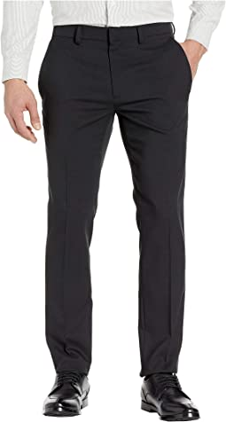Stretch Heather Tic Slim Fit Dress Pants