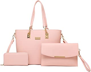 Sponsored Ad - Gift Set Purses for Women Top Handle Satchel Handbags Shoulder Bag Messenger with Wallet Set Handbags for W...