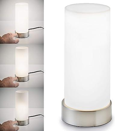 B.K.Licht Tischleuchte | Nachttisch-Leuchte für Schlafzimmer | Berührungssensor | Touchfunktion | IP20