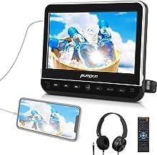 PUMPKIN 10.1 Inch Car DVD Player with Headrest Mount, HDMI, Headphone, Support 1080P Video, USB SD, Region Free, AV Out