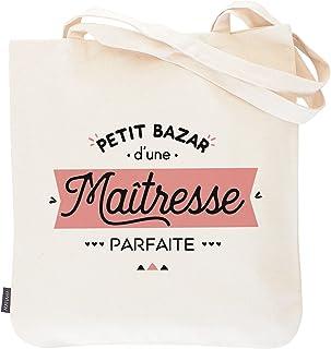 Totebag maîtresse - Petit bazar d'une maîtresse parfaite | Manahia | Sac imprimé en France 100% coton | cadeau maîtresse -...