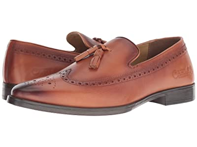 CARLOS by Carlos Santana Sanders Tassel Loafer (Cognac Calfskin Leather) Men