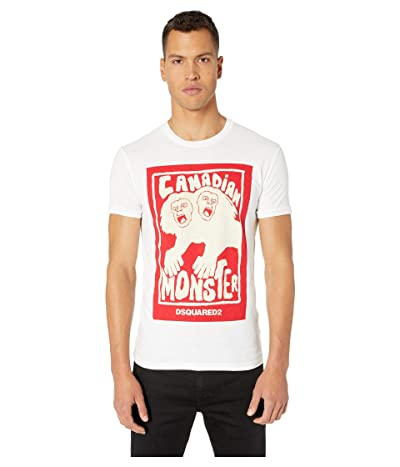 DSQUARED2 Canadian Monster Chic Dan Fit T-Shirt (White) Men
