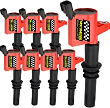 High Performance DG511 Ignition Coil 8 Pack Straight Boot 15% More Energy for Ford F150 F250 F350 F-150 Lincoln Mercury MUSTANG V8 V10 4.6l 5.4l 6.8l Compatible with DG511 C1541 FD508-Upgrade (Red)