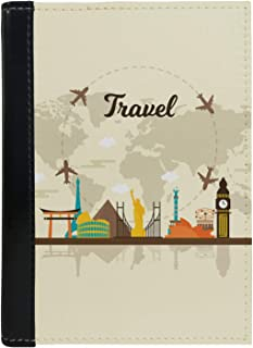 MADANYU Passport Cover - Designer Printed Passport Holder - Ideal for Men Women Kids Boys and Girls - Faux Leather - Travel to The World