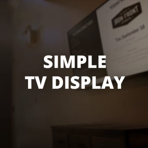 Simple TV Display (No Sleep Webpage TV)