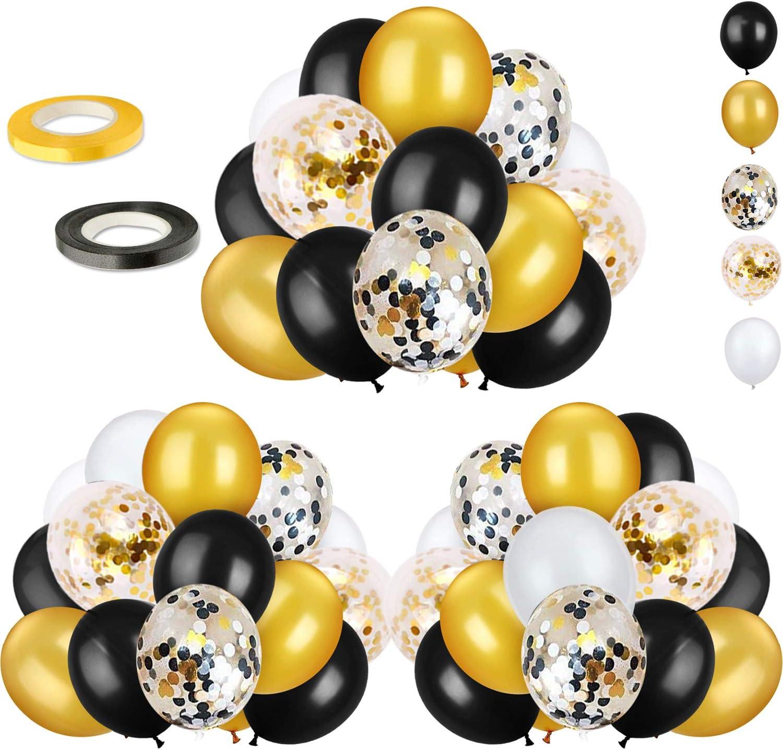 Black White Peach Silver Round Confetti Wedding Confetti Balloon Confetti Black White Peach Silver Confetti Bridal Shower Confetti